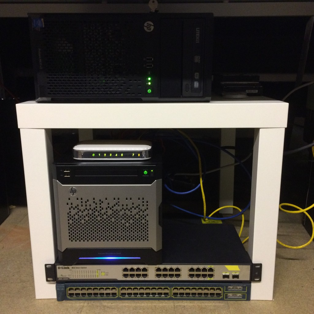Update #1 of my series of building a home lab from scratch - my current lab setup