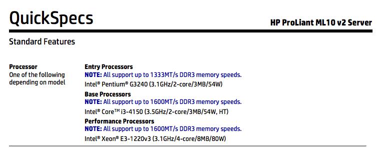 HP ML10 v2 Upgrade Path