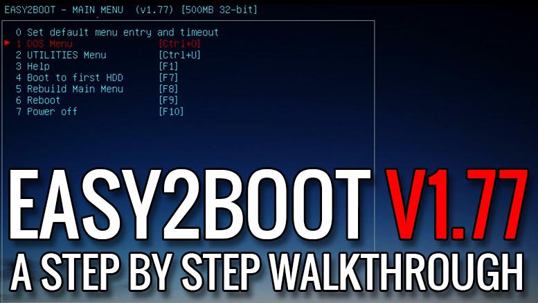 Easy2Boot Walkthrough