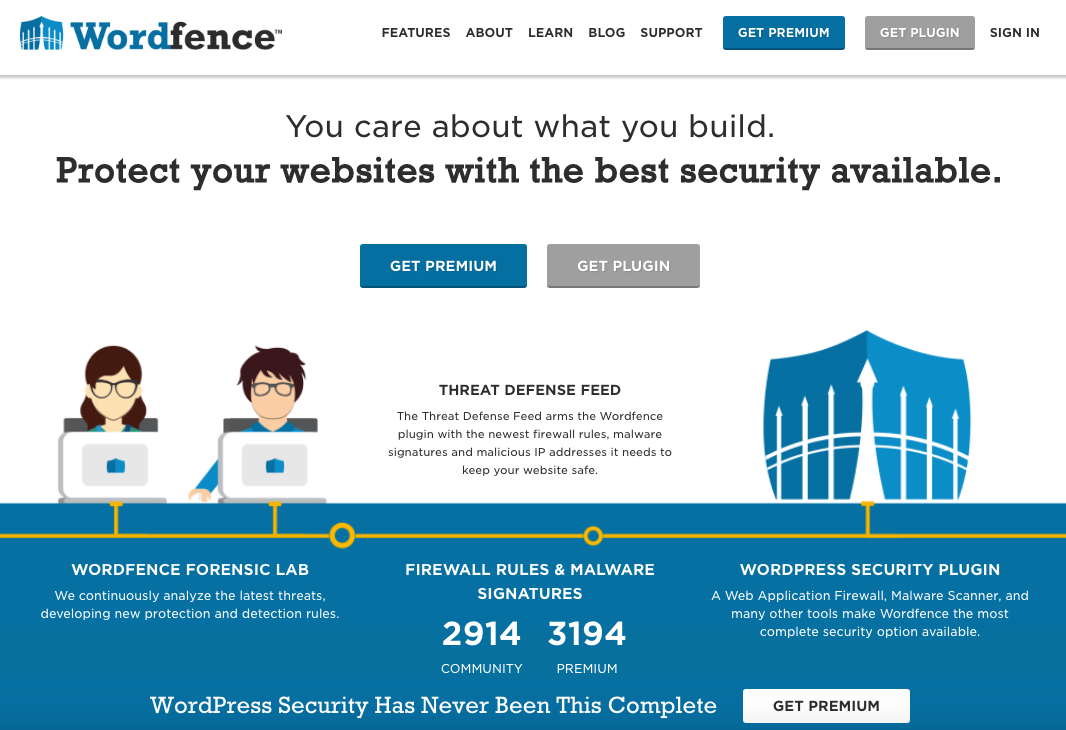 Secure your wordpress website - install wordfence