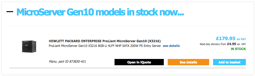 Gen10 Microserver