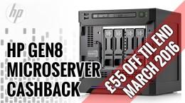 HP Microserver Gen8 Cashback