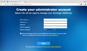 DIY Synology NAS - Admin Account Creation